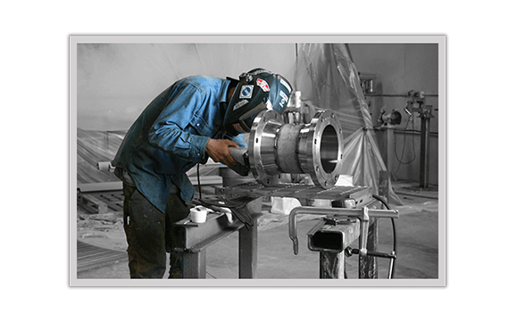 Flowpoint Welder working