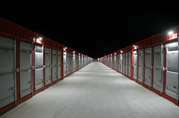 Security and lighting is extremely important throughout our storage facility in Sturgeon County, Alberta