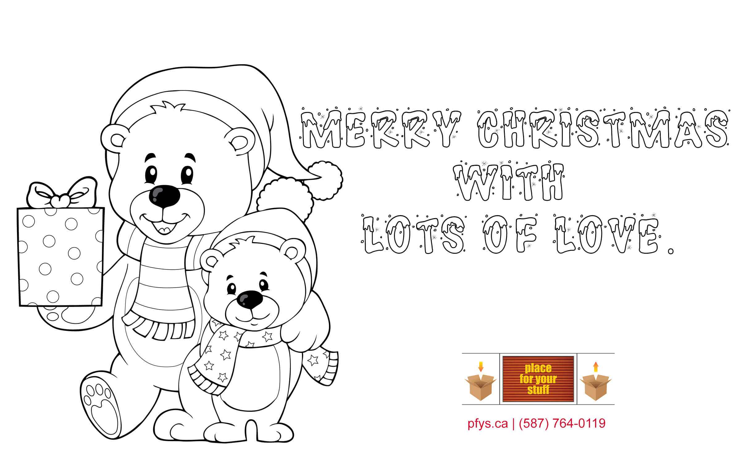 Place For Your Stuff's  Christmas coloring test.