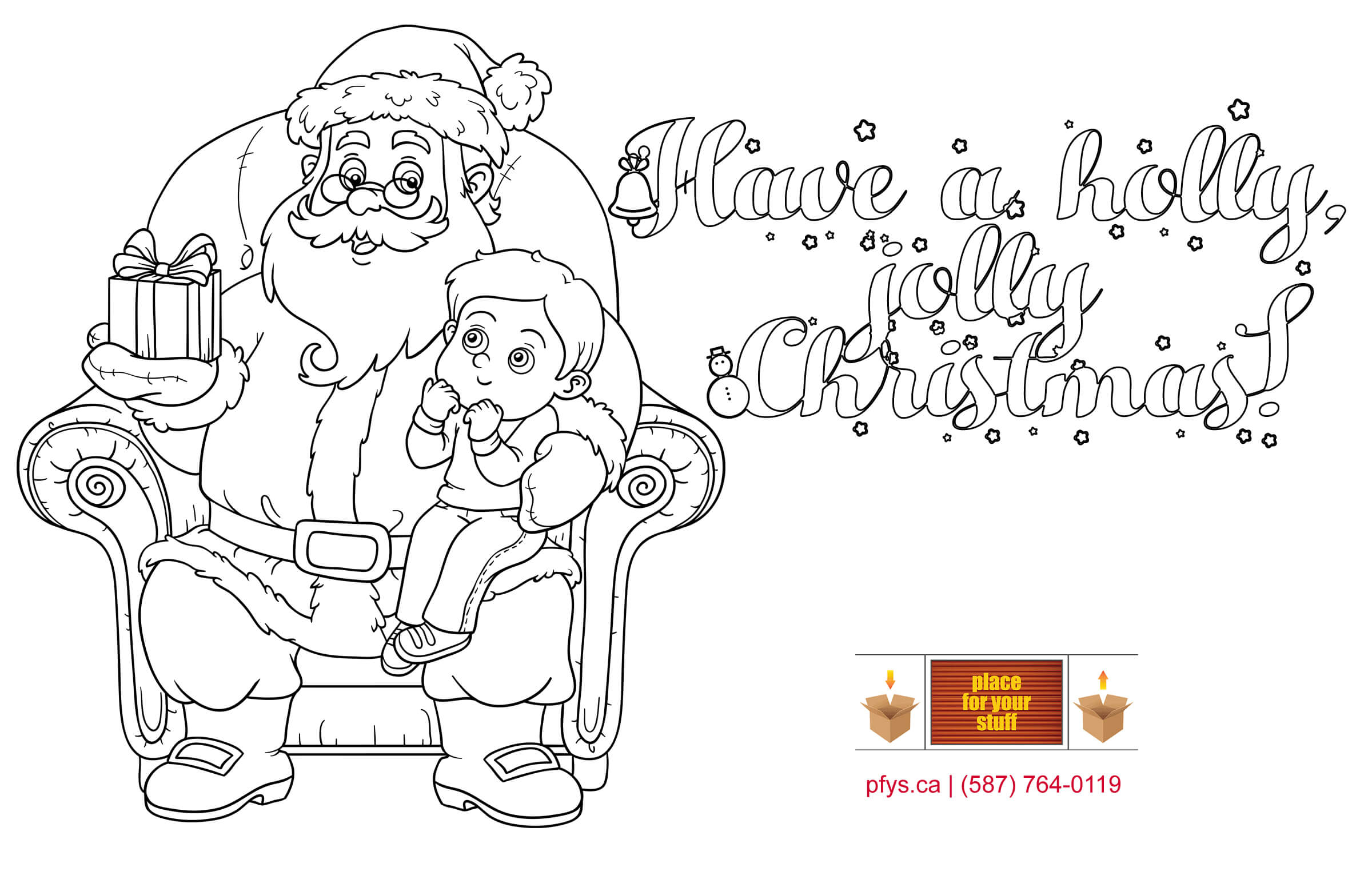 Place For Your Stuff's  Christmas coloring test2.